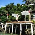 從海中拍Nami的日光浴平台