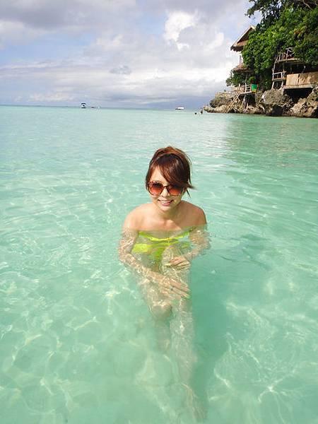 天然的游泳池!