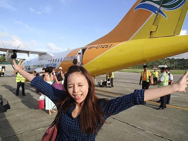 要回馬尼拉囉! 再跟CEBU小飛機來一張