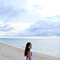 粗粗的貝殼沙灘+天氣不好的影響,風景我覺得普通