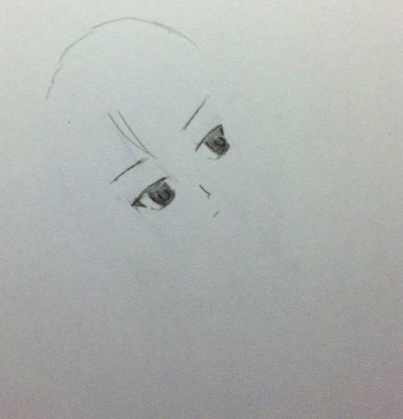 畫一半的某人的眼睛