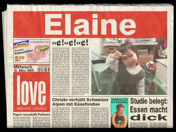 自製報紙頭條新聞