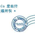 Angela 浮水印郵戳-藍