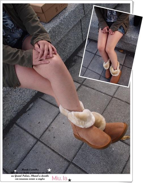 "OLLIE 大圓釦雪靴 -""實拍圖"""