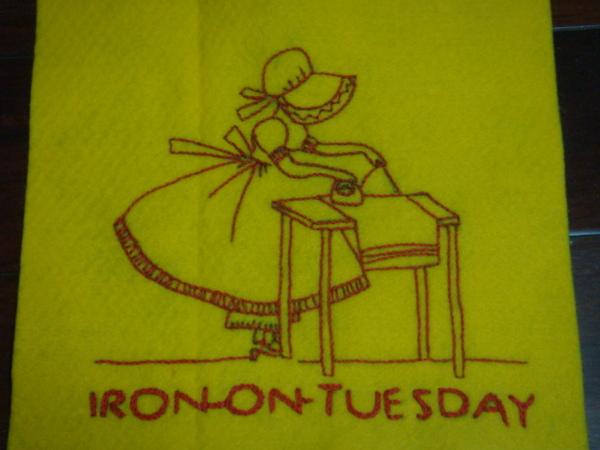 星期二--燙衣服