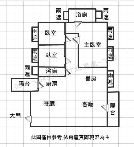 竹北高鐵【坤山】鼎峰 格局圖