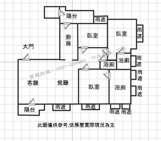 竹北台科大-聚合發 香禔 尊爵視野戶~格局圖