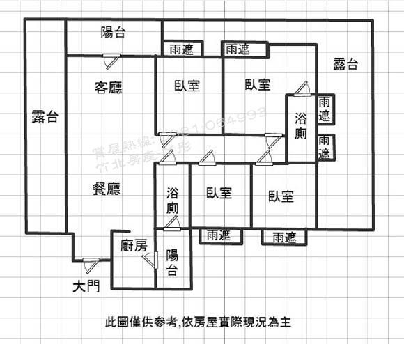 竹北【高鐵特區】君悅-露台戶~格局圖