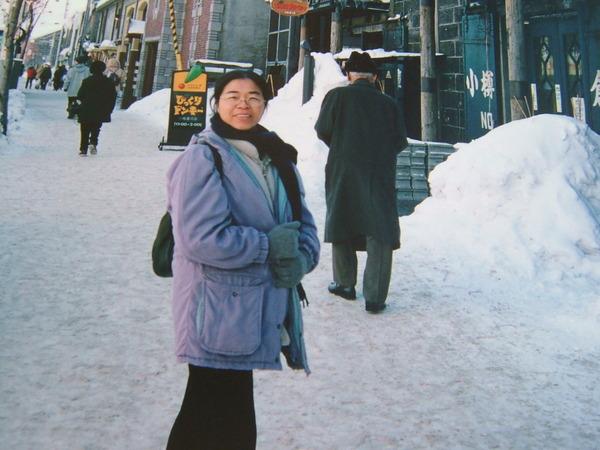 那年冬天在北海道歐風建築的小樽街上