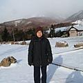 為了看富士山,在清里高原忍受寒風刺骨的冷