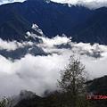 高山上的雲海一角