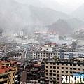 震後的北川縣城。 新華社楊磊攝