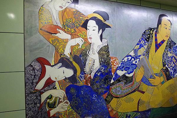 築地地鐵站有壁畫