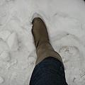 踩在雪地~感覺雪的觸感