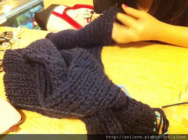 圍巾編織教學