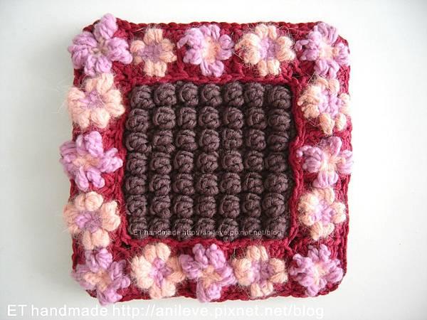 方形小花拼接編鍋墊