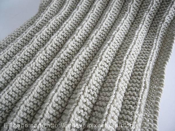 適合新手編織的百褶圍巾