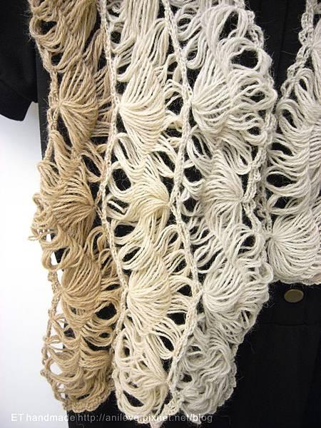 髮釵蕾絲編織圍巾