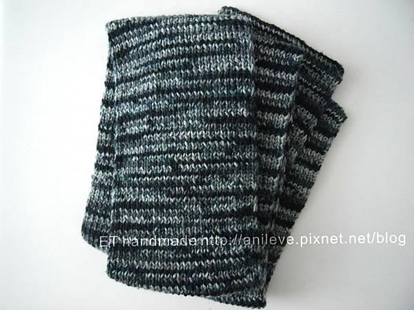 1x1鬆緊編織圍巾