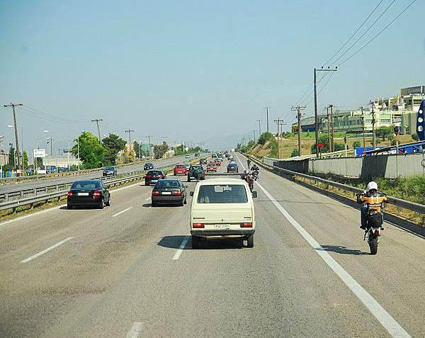 高速公路上