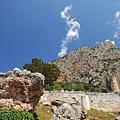 山丘斜坡的阿波羅神殿
