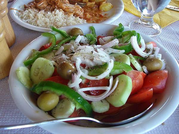 希臘餐點─沙拉