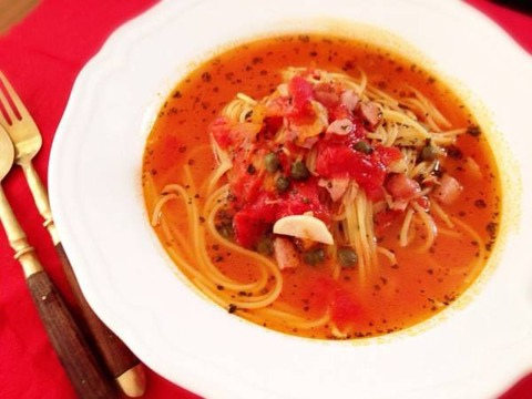 番茄湯義大利麵