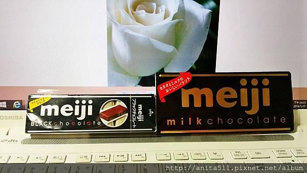 黑巧克力和牛奶巧克力