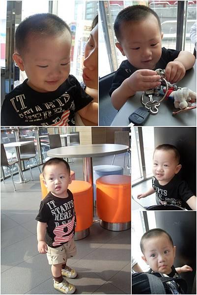 20120415[寶兒一歲四個月] 台中麥當勞和希臘的秘密旅行