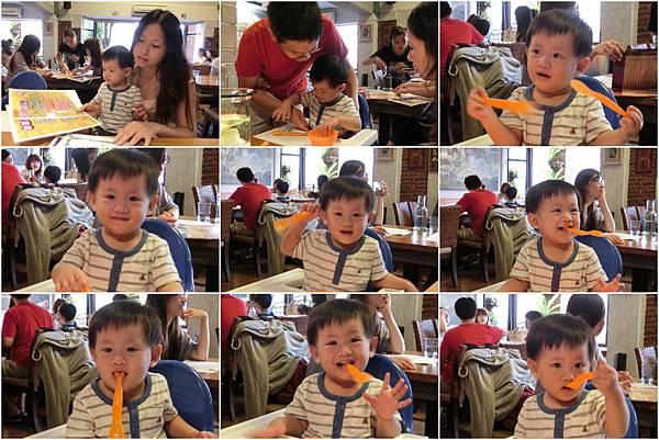 20120901[寶兒1Y9M]中壢梵谷餐廳聚餐+買書+魚缸