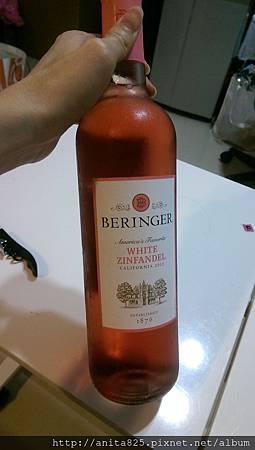 【粉紅酒】BERINGER WHITE ZINFANDEL-貝林格加州金芬黛粉紅葡萄酒