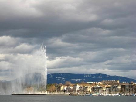 Lake Léman列馬湖與大噴泉
