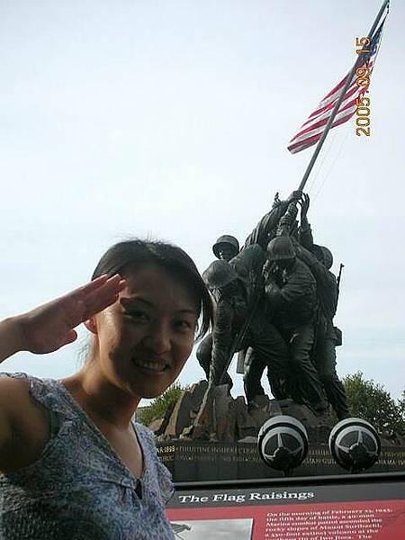 硫磺島海軍陸戰隊紀念雕像