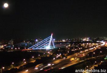 中秋夜的斜張橋