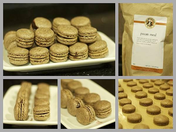 chocolate macarons using pecan meal