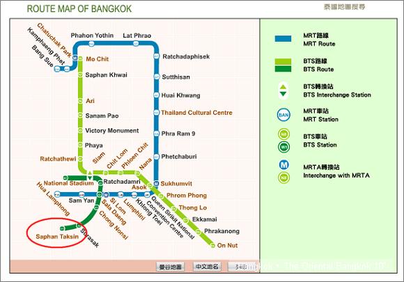 曼谷捷運地圖