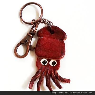 皮革鑰匙圈-魷魚.jpg