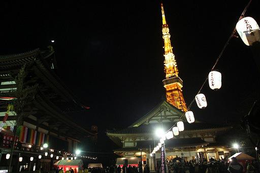 東京增上寺跨年