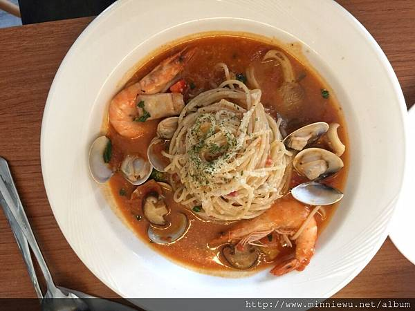 食時漁夫蕃茄海鮮義大利麵