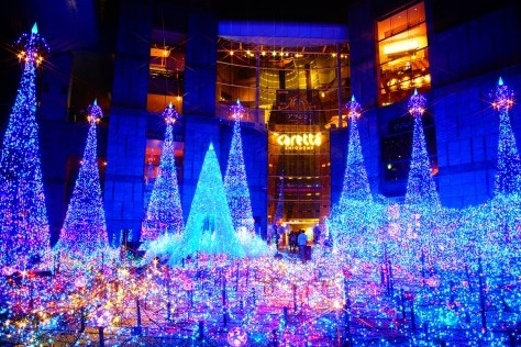 2015汐留聖誕燈飾Caretta Illumination