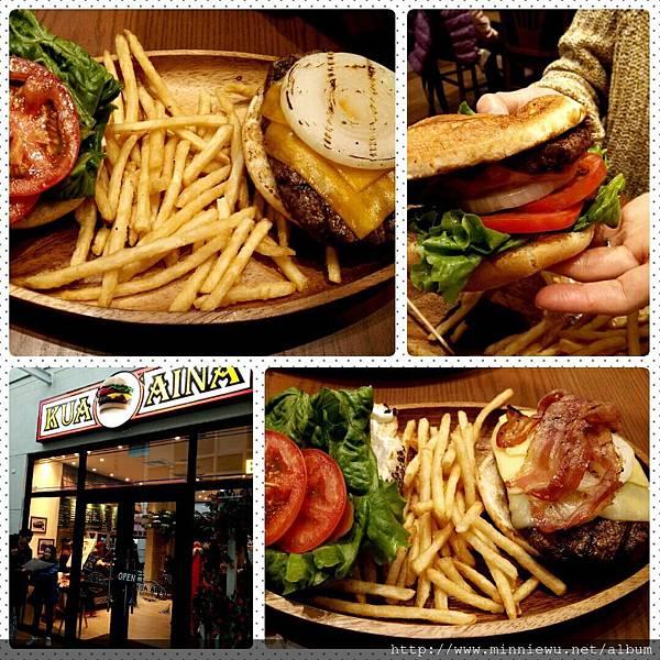 林口三井Outlet Kua Aina夏威夷漢堡,kua aina漢堡店
