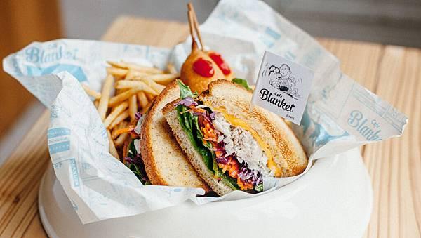 「Cafe Blanket」漢堡圖片