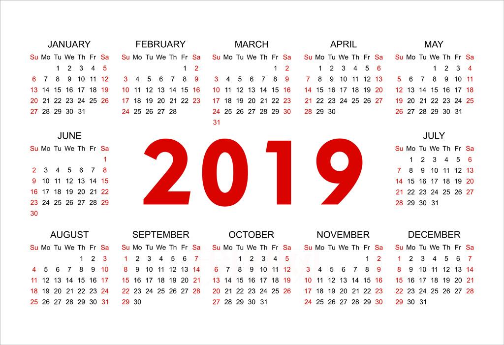 2019年曆