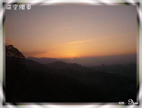 071211貓纜半日遊 從纜車拍出去的夕陽