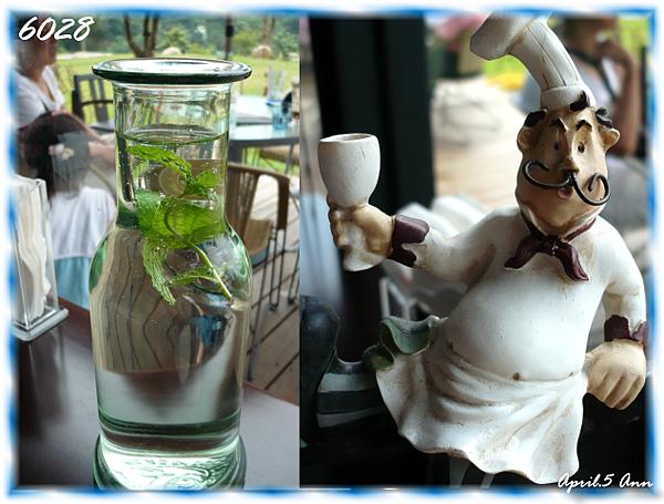 水瓶和桌牌
