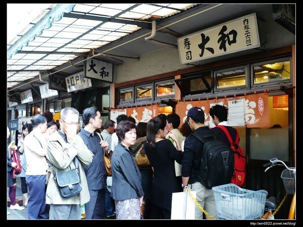 築地市場-大排長龍的大和壽司