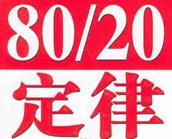 著名的20、80%定律揭示28個道理