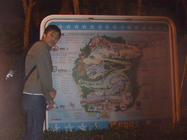 跟園區的地圖來一張