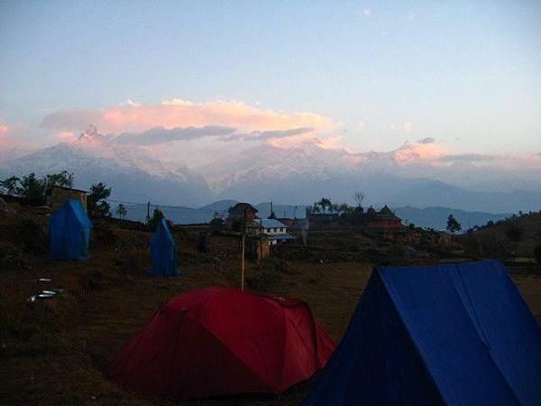 第一天的營地