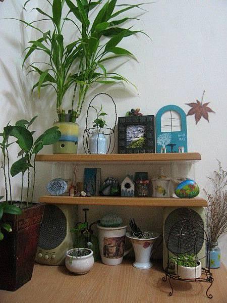 書房-廢木片組合架